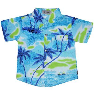 """Рубашка детская """"Пальмы"""" (короткий рукав)"""