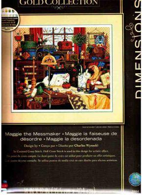Maggie The Messmaker dim-03884  Кошка Мэгги